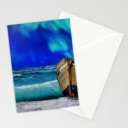 Night - Misquamicut Beach '88, Rhode Island Landscape Painting by Jeanpaul Ferro Stationery Cards