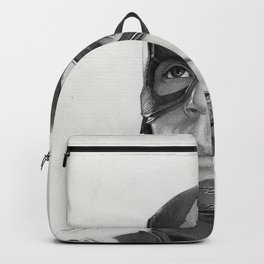 Portrait Drawing of Capt. America Backpack