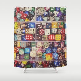 Colorful Dice Shower Curtain