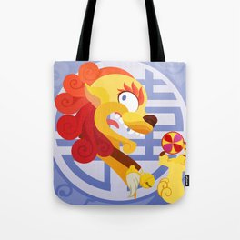 Silly Bestiary : Mister Fu Dog Tote Bag