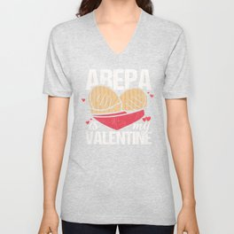 Arepa Is My Valentine Funny Gift for Valentines Day graphic Unisex V-Neck