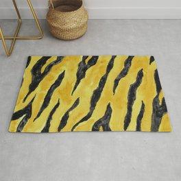 Tiger Stripes Gold & Black Rug