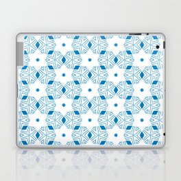 Shibori Stars (blue and white) Laptop & iPad Skin