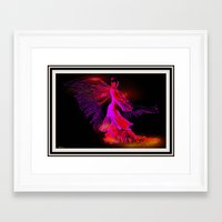 dancer Framed Art Prints featuring Dancer by elkart51