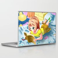 bible verses Laptop & iPad Skins featuring Girl Reading the Bible by Bemmygail