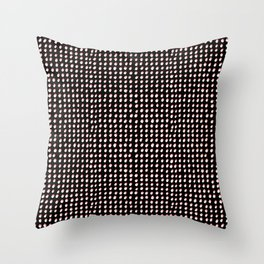 Dots (Shadowed) - White x Coral Throw Pillow