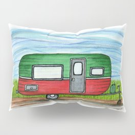 Watermelon Camper Trailer Pillow Sham
