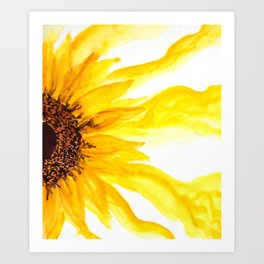 Bleeding sunflower Art Print