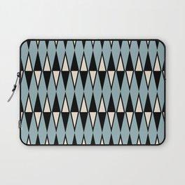 Mid Century Modern Diamond Pattern Black and Blue 233 Laptop Sleeve