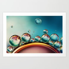 Oil and Water Mix Art Print