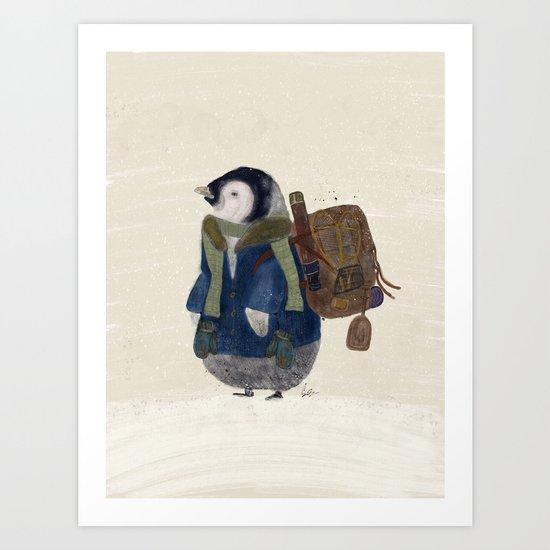 the little explorer Art Print