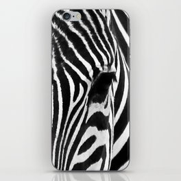 Portrait of Zebra Black and White #decor #society6 #buyart iPhone Skin