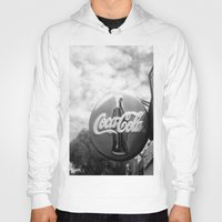 coca cola Hoodies featuring Coca Cola  by Chris' Landscape Images & Designs