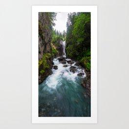 Rosenlaui Waterfall, Rosenlaui, Berner Oberland, Switzerland Art Print