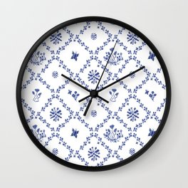 Clue in the Garden Patches Wall Clock