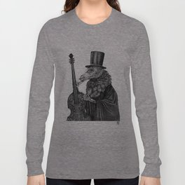 Vulture Double Bass by Pia Tham Long Sleeve T-shirt
