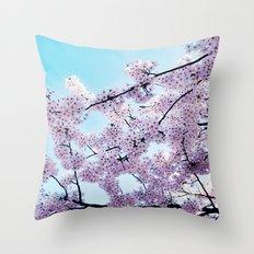 Japanese flowers Throw Pillow