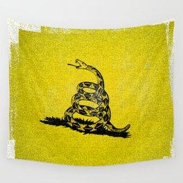 Gadsden Distressed Halftone Denim Flag Wall Tapestry