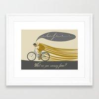 run Framed Art Prints featuring Run by Agne  Matulionyte