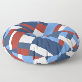 Map 45 Red White and Blue Floor Pillow