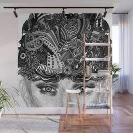 Courage Monotone Wall Mural