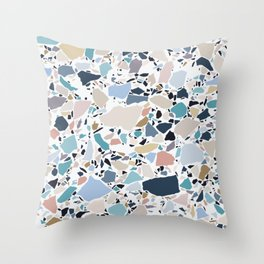 Pastel Terrazzo Throw Pillow