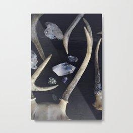 Stag & Stone Metal Print