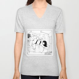 asc 547 - My New Year's resolutions - April Unisex V-Neck