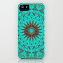 Mandala Fractal in Oxidized Copper 2 iPhone Case
