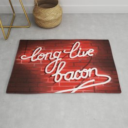 Long live bacon Rug