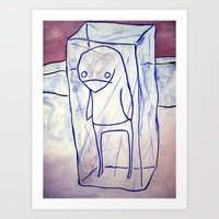 frozen Art Prints featuring frozen by starheadboy