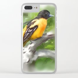 Baltimore Oriole Clear iPhone Case