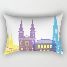 Budapest skyline pop Rectangular Pillow