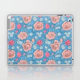 Roses Blue Pink Laptop & iPad Skin