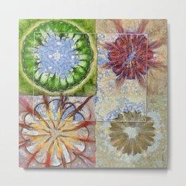 Bepainted Concrete Flower  ID:16165-003711-19651 Metal Print