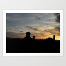 Sunset over Necropolis Art Print