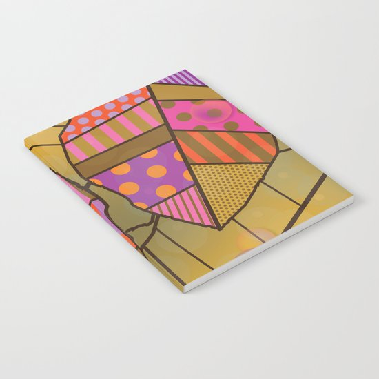 Pattern on leaves Notebook
