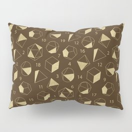 Dice Outline in Gold + Brown Pillow Sham