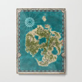 Pirate Adventure Map Metal Print