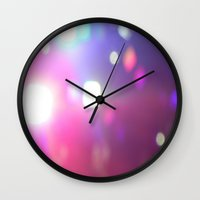 concert Wall Clocks featuring Concert Lights by Halle