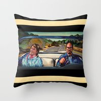 law Throw Pillows featuring The Law by Brittany W-Smith