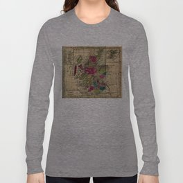 Vintage Map of Scotland (1808) Long Sleeve T-shirt