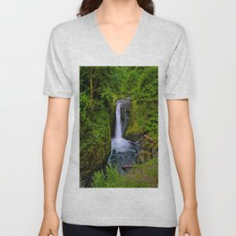 Columbia River Gorge Waterfall  Unisex V-Neck