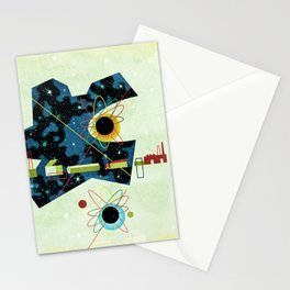 Retro Atomic factory cosmic splender Stationery Cards