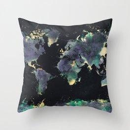 world map 126 #worldmap #map Throw Pillow