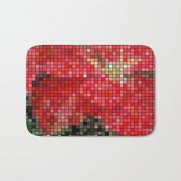 Mottled Red Poinsettia 1 Ephemeral Mosaic Bath Mat