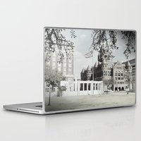 jfk Laptop & iPad Skins featuring SPRING IN DEALEY PLAZA by Johnny Cashley