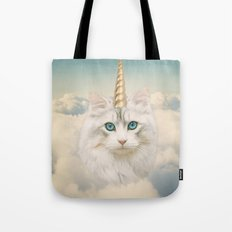 Unicorn Cat Sky Tote Bag