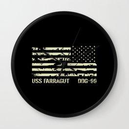 USS Farragut Wall Clock