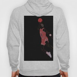 A graphic design and drawing of a basketball player his airness Jordan Hoody